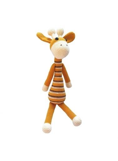 Quzucuk Kids Amigurumi Özel Tasarım Organik El Örgüsü Zürafa Figürlü Oyuncak 51Cm Sarı